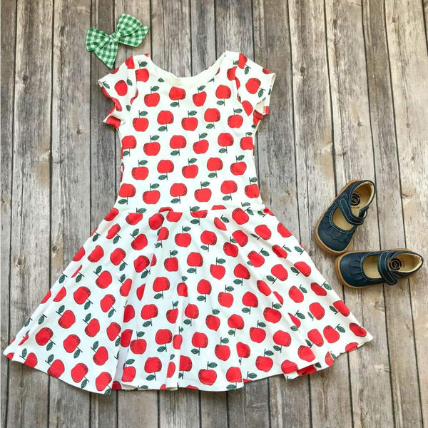 Red Apple Twirl Dress - Elizabeth's Closet