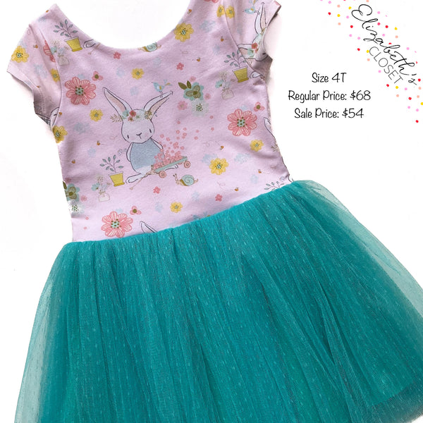 Bunny Tulle Dress, size 4T