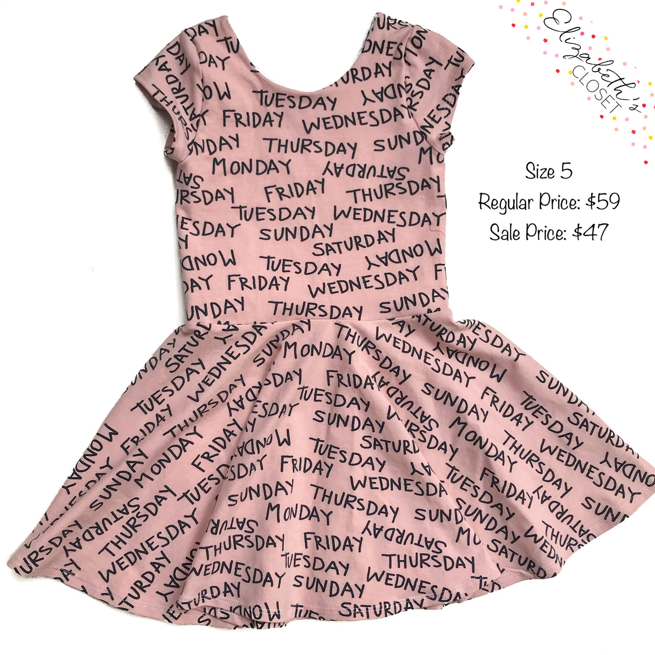 Days of the Week Dress, size 5T