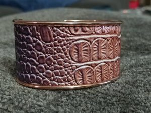 Ombre Croco-Embossed Cuff