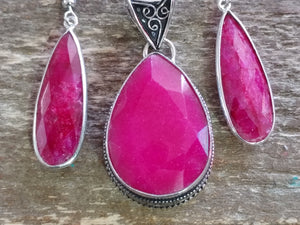 Ruby Teardrop Pendant