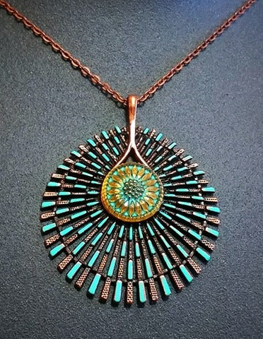 Copper Radiance Pendant