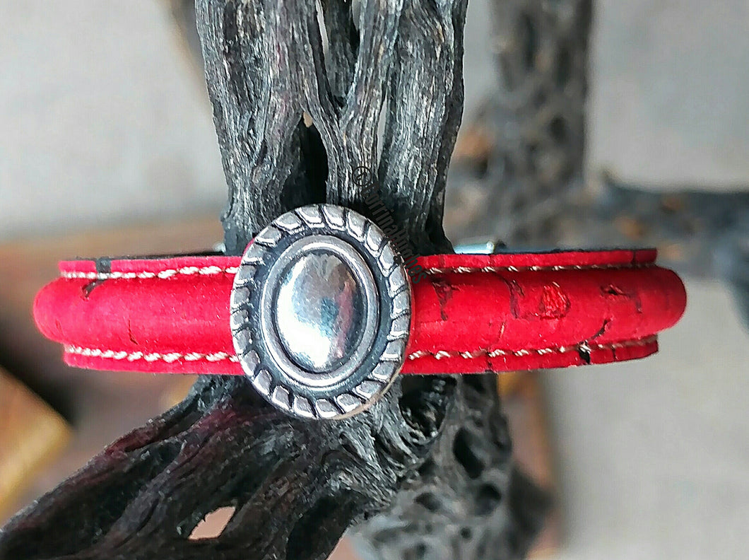 Red Chile New Mexico Bracelet w/Silver Charms