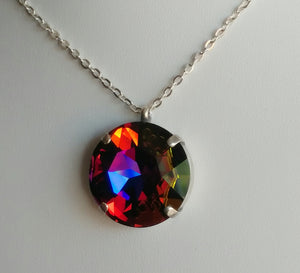 Crystal Volcano Pendant Necklace
