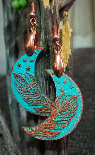 Copper Luna Earrings