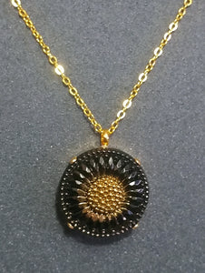 Black Sunflower Pendant