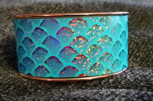 Load image into Gallery viewer, Turquoise Mermaid Cuff