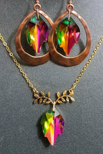 Load image into Gallery viewer, Rainbow Leaf Copper Drops