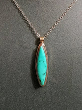 Load image into Gallery viewer, Turquoise Diamond Pendant