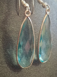 Faceted Blue Topaz Drops