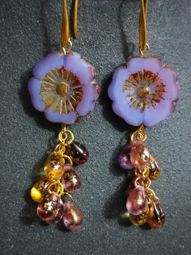Lavender Gold Hollyhock Drops