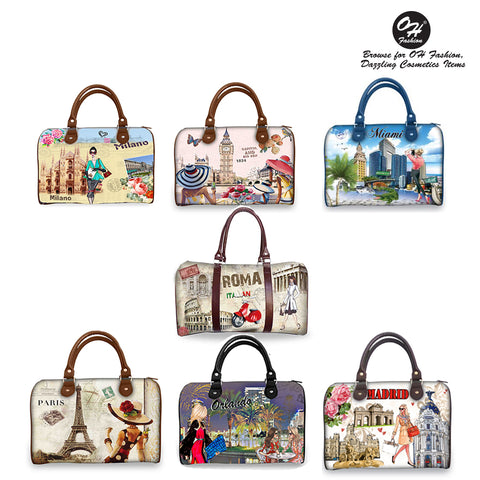 OH Fahion Handbag Satchel All Around the World Collection