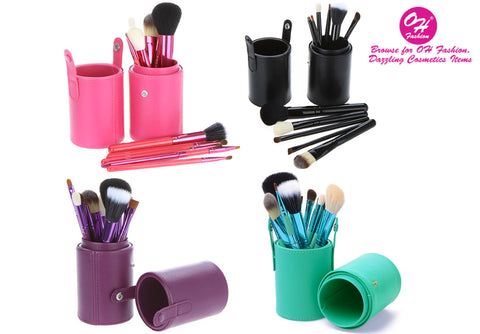 OH Fashion Makeup Brushes with Case