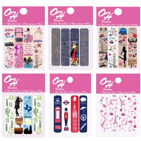 OH Fashion Mini Nail Files Collection