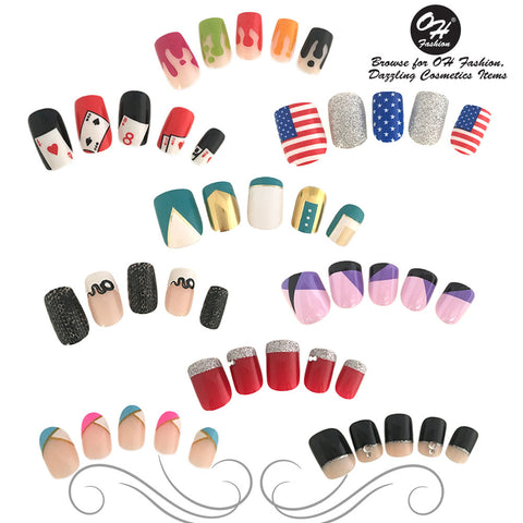 OH Fashion Stick On Nails Collection
