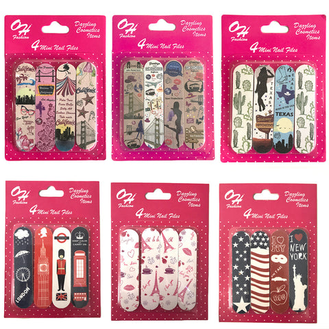 Mini Nail Files 1 Pack of 4 Collection