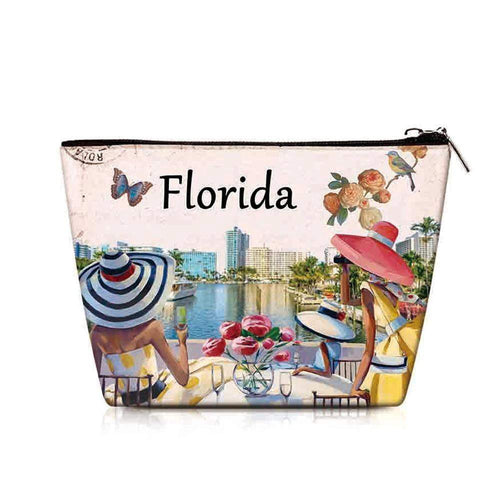 OH Fashion Cosmetic Bag Luxurious Florida - Superpharma Corporation - ohfashion