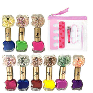 OH Fashion Nail Polish Kit Names Collection Double Apple 10 PCS - Superpharma Corporation - ohfashion
