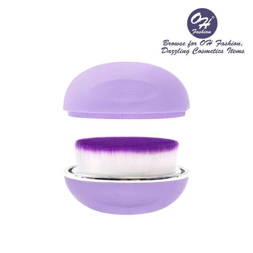 OH Fashion Round Foundation Makeup Brush Violet - Superpharma Corporation - ohfashion