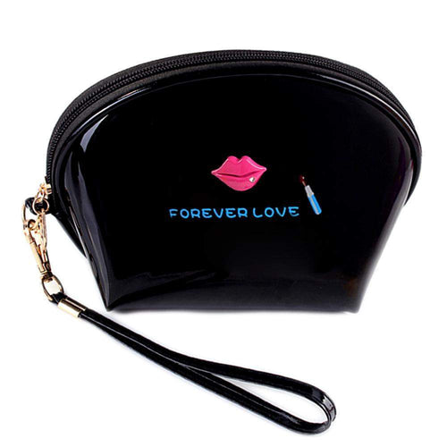 OH Fashion Cosmetic Bag Lipstick Love Captivating in Black (Small) - Superpharma Corporation - ohfashion
