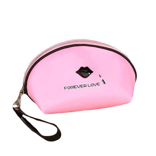 OH Fashion Cosmetic Bag Lipstick Love Cutie in Pink (Small) - Superpharma Corporation - ohfashion