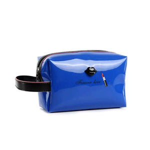 OH Fashion Cosmetic Bag Lipstick Love Extravagant in Blue (Medium) - Superpharma Corporation - ohfashion