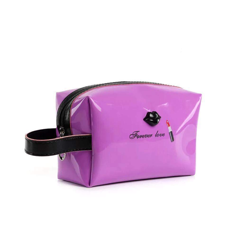 OH Fashion Cosmetic Bag Lipstick Love Famous in Purple (Medium) - Superpharma Corporation - ohfashion