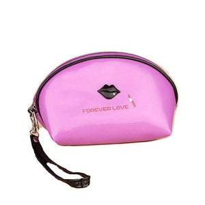 OH Fashion Cosmetic Bag Lipstick Love Famous in Purple (Small) - Superpharma Corporation - ohfashion