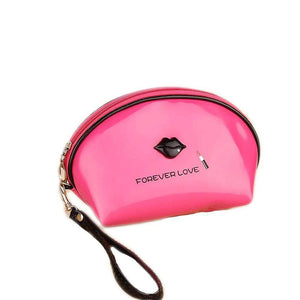 OH Fashion Cosmetic Bag Lipstick Love Fearless in Fuchsia (Small) - Superpharma Corporation - ohfashion