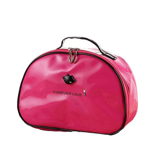 OH Fashion Cosmetic Bag Lipstick Love Fearless in Fuschia (Large) - Superpharma Corporation - ohfashion