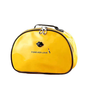 OH Fashion Cosmetic Bag Lipstick Love Marvelous in Yellow (Large) - Superpharma Corporation - ohfashion