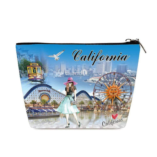 OH Fashion Cosmetic Bag Around California - Superpharma Corporation - ohfashion