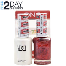 Load image into Gallery viewer, DND Gel Polish & Matching Lacquer Set #402 Firework Star, 0.5 oz