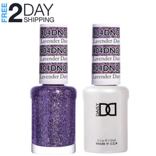 Load image into Gallery viewer, DND Gel Polish & Matching Lacquer Set #404 Lavender Daisy Star, 0.5 oz