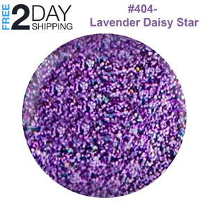 DND Gel Polish & Matching Lacquer Set #404 Lavender Daisy Star, 0.5 oz