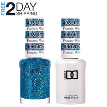 Load image into Gallery viewer, DND Gel Polish & Matching Lacquer Set #406 Frozen Wave, 0.5 oz
