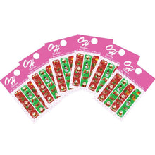 Load image into Gallery viewer, OH Fashion Mini Nail Files SET OF 6 PACKS Red Christmas 🎄 - Superpharma Corporation - ohfashion