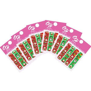 OH Fashion Mini Nail Files SET OF 6 PACKS Red Christmas 🎄 - Superpharma Corporation - ohfashion