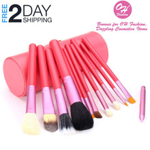 Load image into Gallery viewer, OH Fashion Makeup Brushes Fantasy Pink, 13 PCs