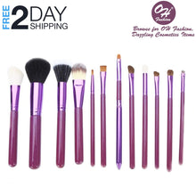 Load image into Gallery viewer, OH Fashion Makeup Brushes Galaxy Purple, 13 PCs