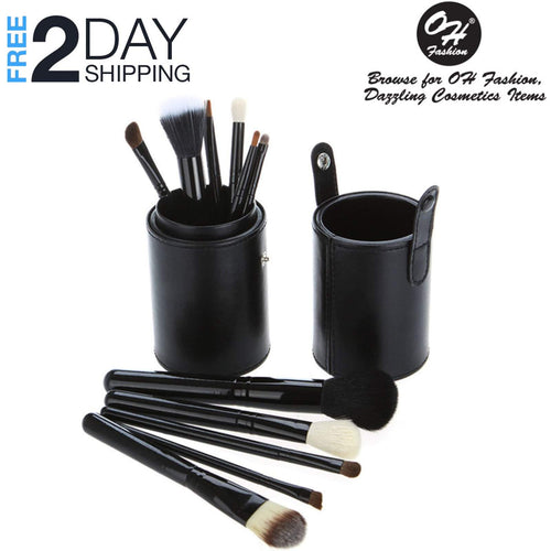 OH Fashion Makeup Brushes Midnight Black,13 PCs