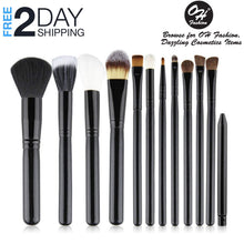 Load image into Gallery viewer, OH Fashion Makeup Brushes Midnight Black,13 PCs