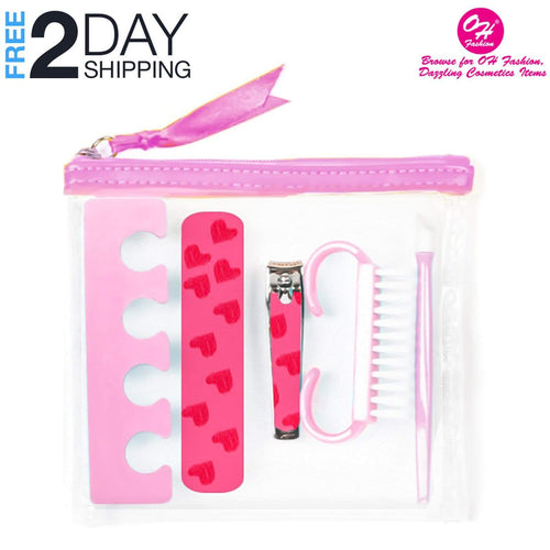 OH Fashion Manicure set Pink Transparent, 6 PCs