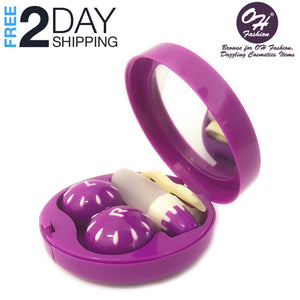 OH Fashion Contact Lens Case Fruits Grapes with Mirror