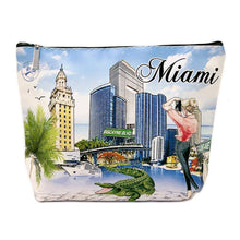 Load image into Gallery viewer, OH Fashion Makeup Bag Capturing Miami