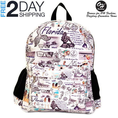 "OH Fashion Backpack Traveling Florida 16"" inches"