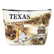 Load image into Gallery viewer, OH Fashion Makeup Bag The Beauty of Texas