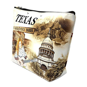 OH Fashion Makeup Bag The Beauty of Texas