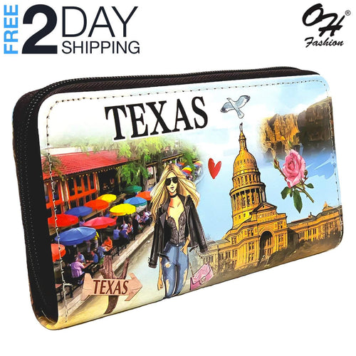 OH Fashion Women's Wallet Zip-Around, Ranger of Texas