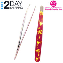 Load image into Gallery viewer, OH Fashion Professional Tweezers Set Cocktails, 2 PCs